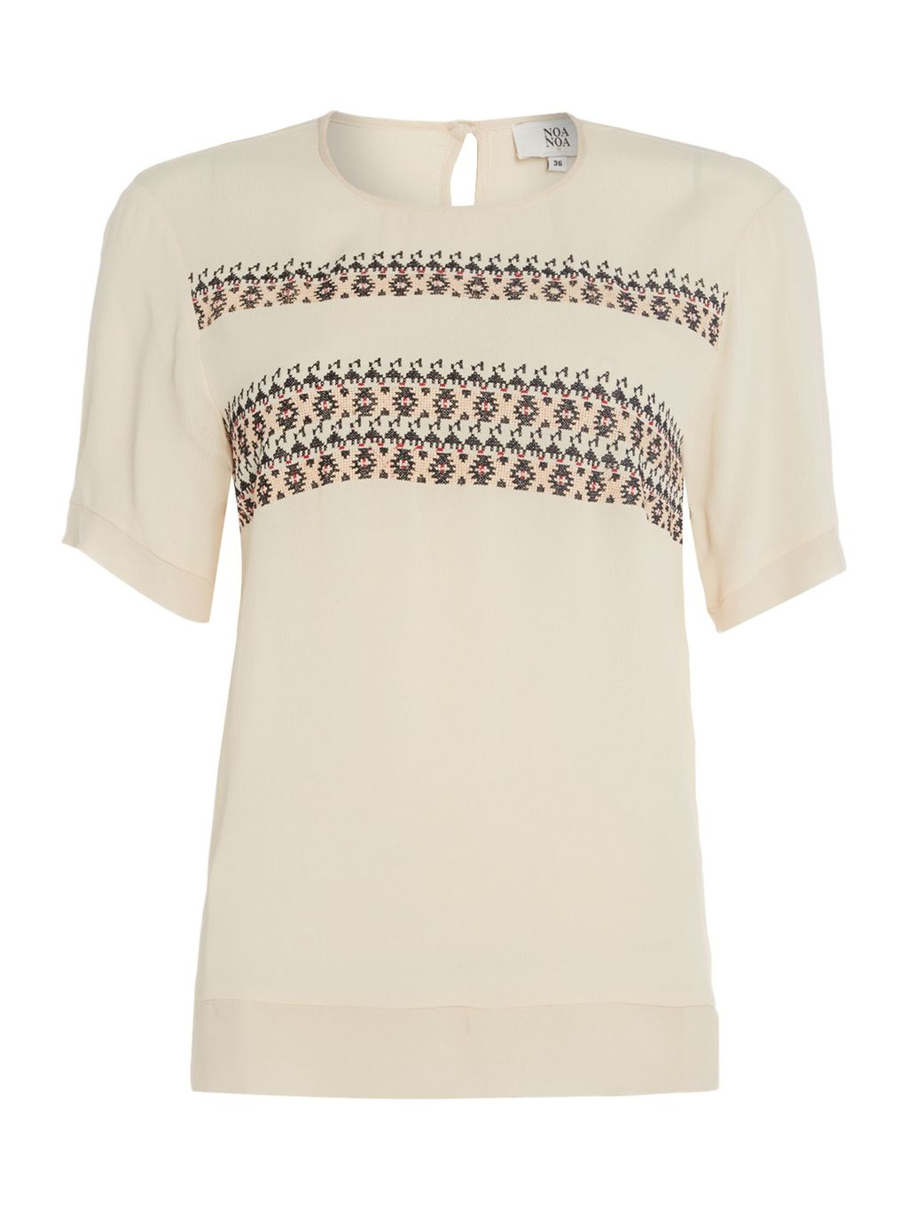 Short Sleeve Blouse, Pink - neckline: round neck; pattern: plain; style: blouse; predominant colour: blush; occasions: casual, creative work; length: standard; fibres: viscose/rayon - 100%; fit: body skimming; sleeve length: short sleeve; sleeve style: standard; texture group: sheer fabrics/chiffon/organza etc.; pattern type: fabric; season: s/s 2016; wardrobe: basic