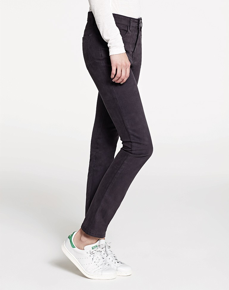 High Rise Slim Straight Jean Smoke Grey - length: standard; pattern: plain; style: slim leg; waist: mid/regular rise; predominant colour: charcoal; occasions: casual; fibres: cotton - stretch; texture group: denim; pattern type: fabric; season: a/w 2015; wardrobe: highlight