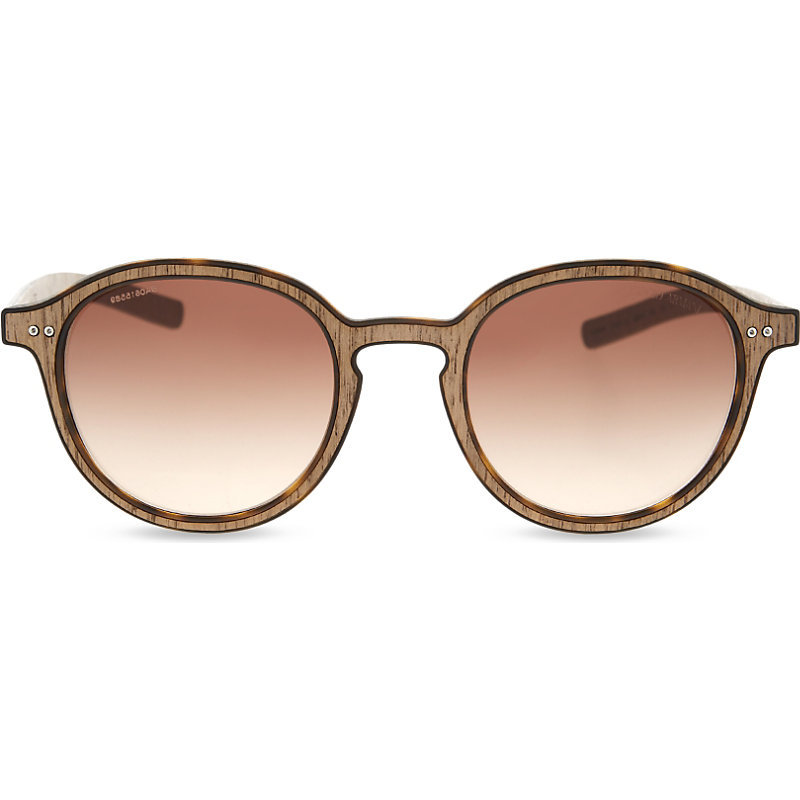 Ar8081 Round Frame Sunglasses, Women's, Matte Havana - predominant colour: taupe; occasions: casual, holiday; style: round; size: standard; material: plastic/rubber; pattern: plain; finish: plain; season: s/s 2016; wardrobe: basic