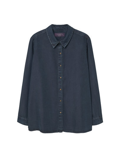 Denim Soft Shirt - neckline: shirt collar/peter pan/zip with opening; pattern: plain; style: shirt; predominant colour: denim; occasions: casual; length: standard; fibres: cotton - mix; fit: straight cut; sleeve length: long sleeve; sleeve style: standard; texture group: denim; pattern type: fabric; season: s/s 2016; wardrobe: basic