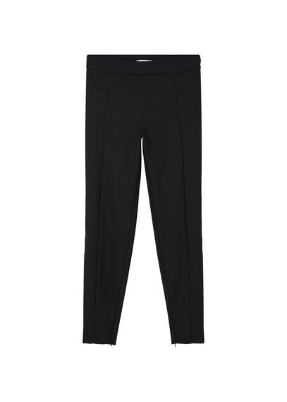 Essential Cotton Leggings - length: standard; pattern: plain; waist: mid/regular rise; predominant colour: black; fibres: cotton - 100%; texture group: cotton feel fabrics; fit: slim leg; pattern type: fabric; style: standard; occasions: creative work; season: s/s 2016; wardrobe: basic