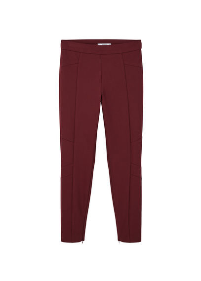 Essential Cotton Leggings - pattern: plain; waist: mid/regular rise; occasions: casual, creative work; length: ankle length; fibres: cotton - 100%; waist detail: narrow waistband; texture group: cotton feel fabrics; fit: slim leg; pattern type: fabric; style: standard; predominant colour: raspberry; season: s/s 2016; wardrobe: highlight