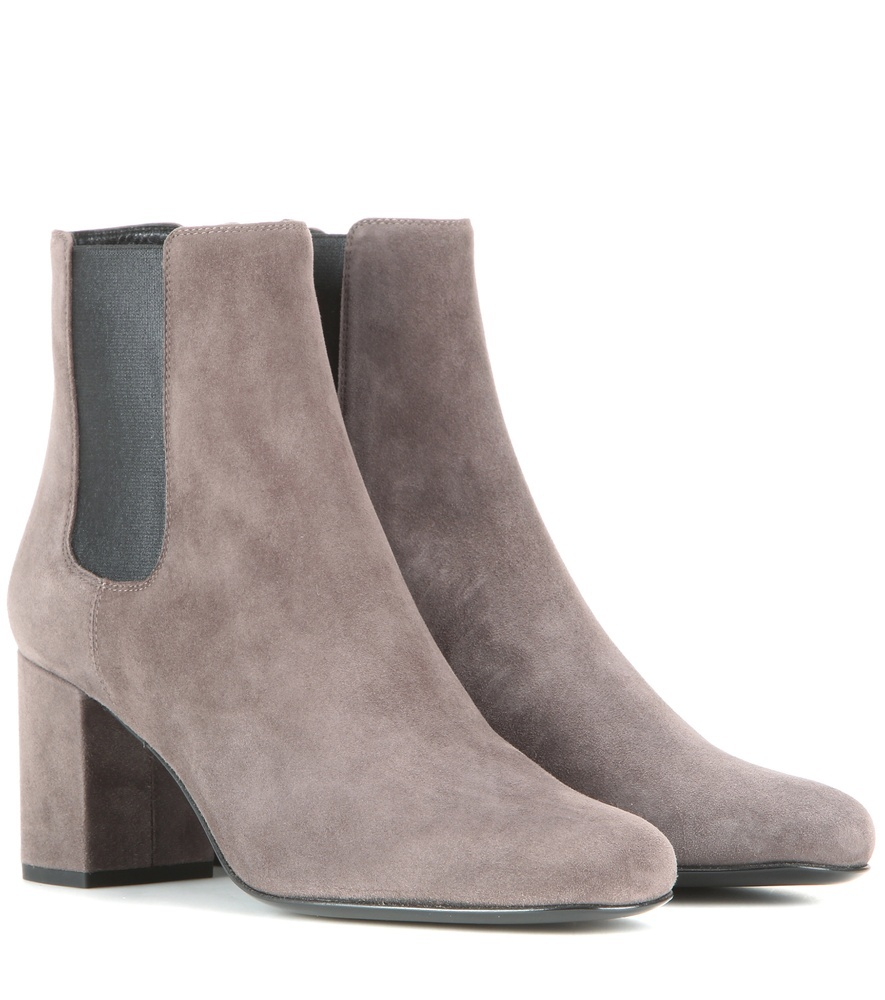 Babies 70 Suede Ankle Boots - predominant colour: light grey; occasions: casual, creative work; material: suede; heel height: mid; heel: block; toe: round toe; boot length: ankle boot; style: standard; finish: plain; pattern: plain; season: s/s 2016; wardrobe: basic