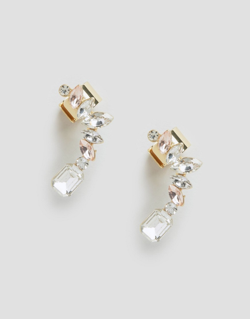 Taupe Jewelled Ear Cuff Earrings Multi - predominant colour: gold; occasions: evening, occasion; length: short; size: standard; material: chain/metal; fastening: pierced; finish: metallic; embellishment: crystals/glass; season: s/s 2016; style: ear cuffs