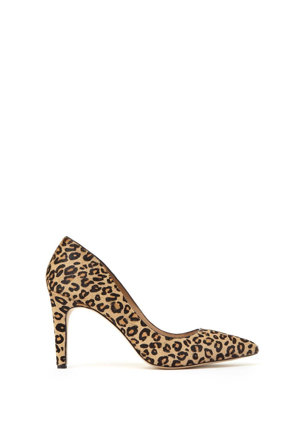 Leopard Print Evelyn Court, Multi Coloured - secondary colour: chocolate brown; predominant colour: camel; occasions: evening, work, occasion; material: faux leather; heel height: high; heel: stiletto; toe: pointed toe; style: courts; finish: plain; pattern: animal print; season: s/s 2016