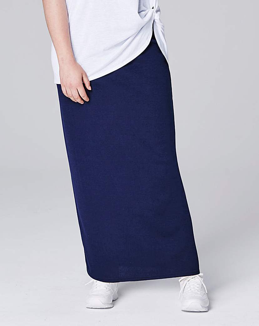 Crepe Maxi Tube Skirt - pattern: plain; length: ankle length; fit: body skimming; waist: mid/regular rise; predominant colour: navy; occasions: casual, creative work; style: maxi skirt; fibres: polyester/polyamide - stretch; pattern type: fabric; texture group: jersey - stretchy/drapey; season: s/s 2016; wardrobe: basic