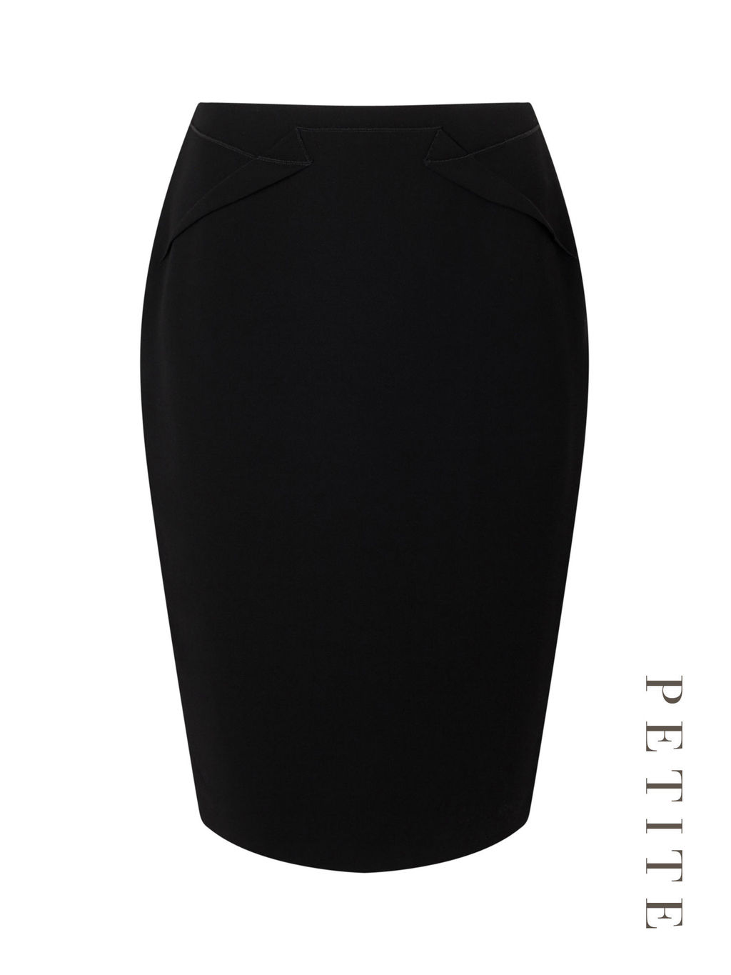 Petite Pencil Skirt - pattern: plain; style: pencil; fit: tailored/fitted; waist: mid/regular rise; predominant colour: black; occasions: work; length: just above the knee; fibres: polyester/polyamide - 100%; pattern type: fabric; texture group: other - light to midweight; season: s/s 2016; wardrobe: basic