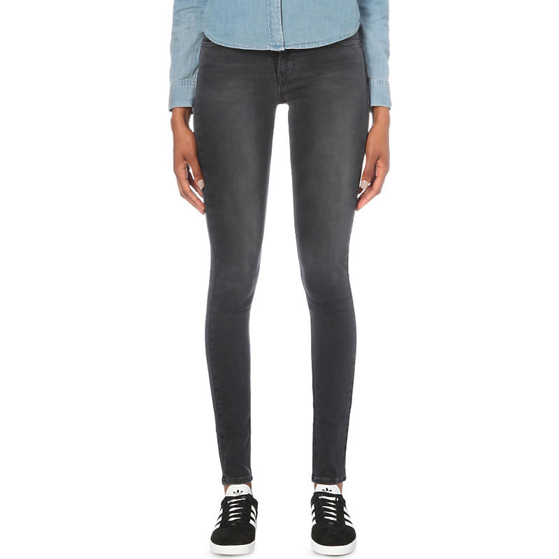 710 Innovation Super Skinny Mid Rise Jeans, Women's, Venture On - style: skinny leg; length: standard; pattern: plain; pocket detail: traditional 5 pocket; waist: mid/regular rise; predominant colour: navy; occasions: casual; fibres: cotton - stretch; texture group: denim; pattern type: fabric; season: s/s 2016; wardrobe: basic