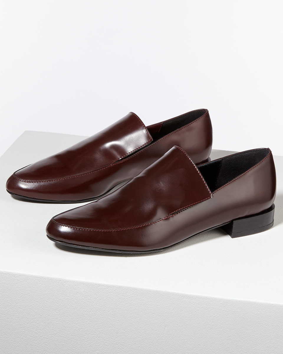 Kittie Loafer - predominant colour: chocolate brown; occasions: evening, creative work; material: leather; heel height: flat; toe: round toe; style: loafers; finish: patent; pattern: plain; season: s/s 2016; wardrobe: basic