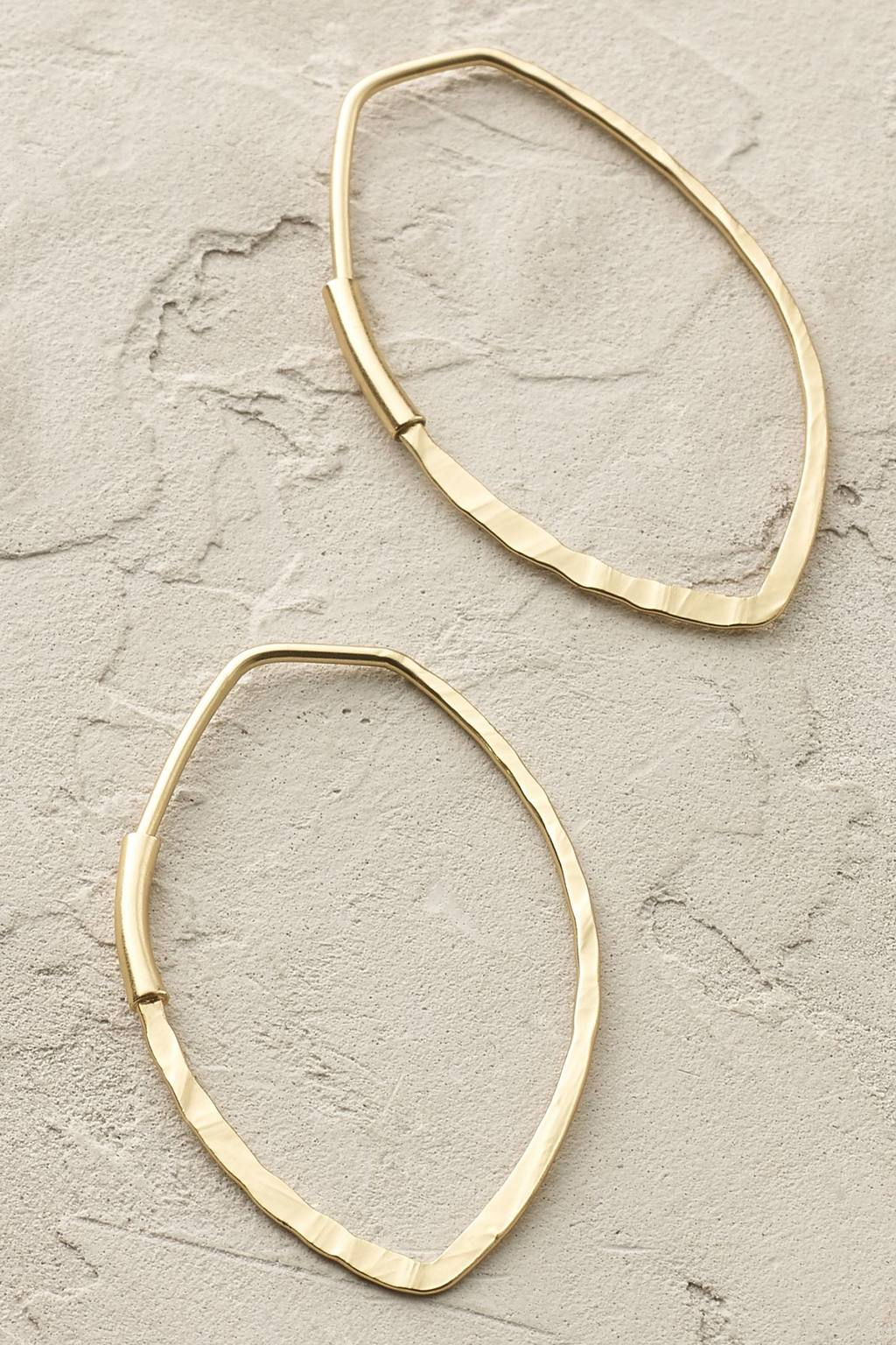 Ariana Hoop Earrings - predominant colour: gold; occasions: casual, evening, creative work; style: hoop; length: mid; size: standard; material: chain/metal; fastening: pierced; finish: metallic; season: s/s 2016