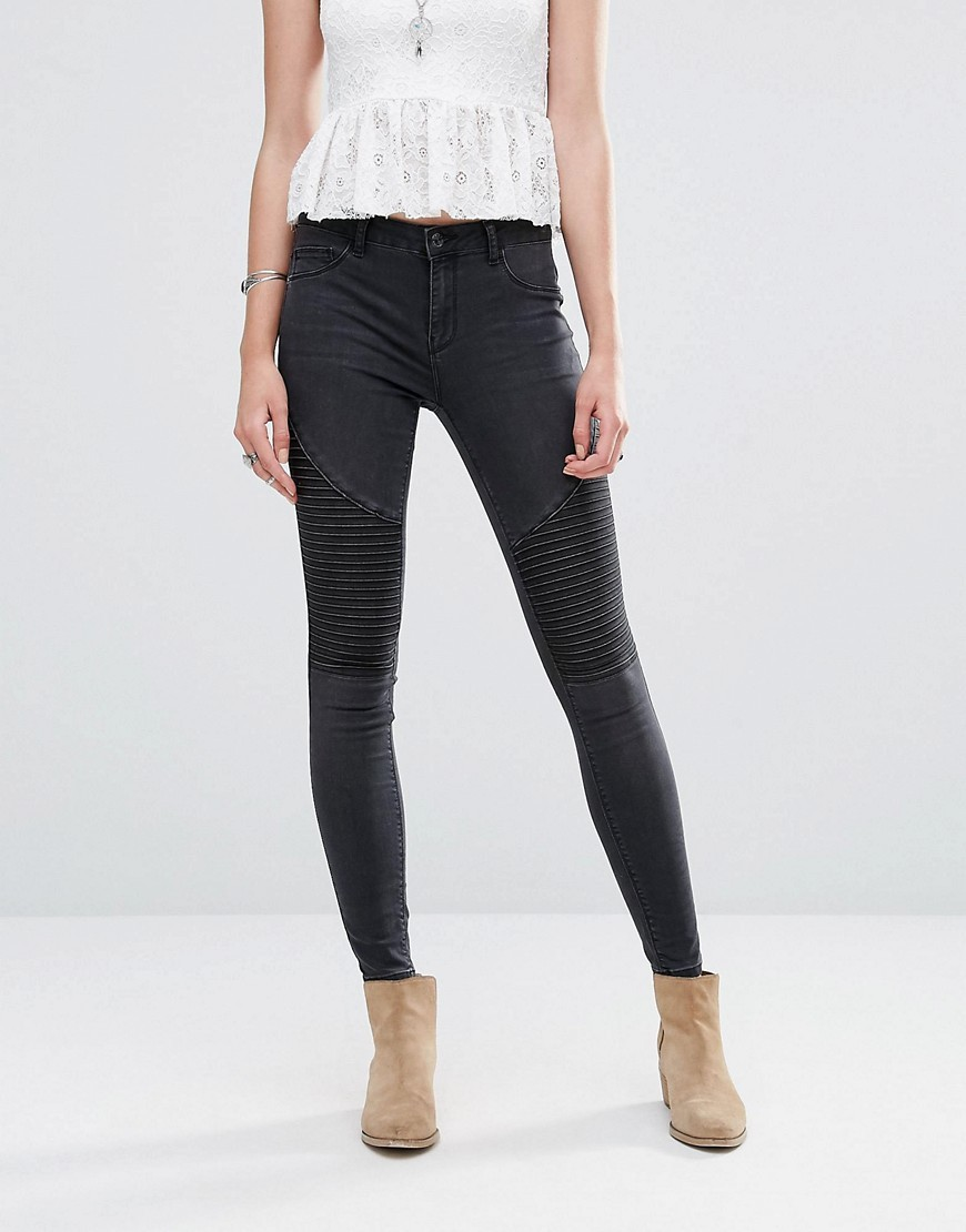 Skinny Black Jeans Black - style: skinny leg; length: standard; pattern: plain; waist: high rise; pocket detail: traditional 5 pocket; predominant colour: black; occasions: casual, evening, creative work; fibres: cotton - stretch; jeans detail: dark wash; texture group: denim; pattern type: fabric; season: s/s 2016; wardrobe: basic