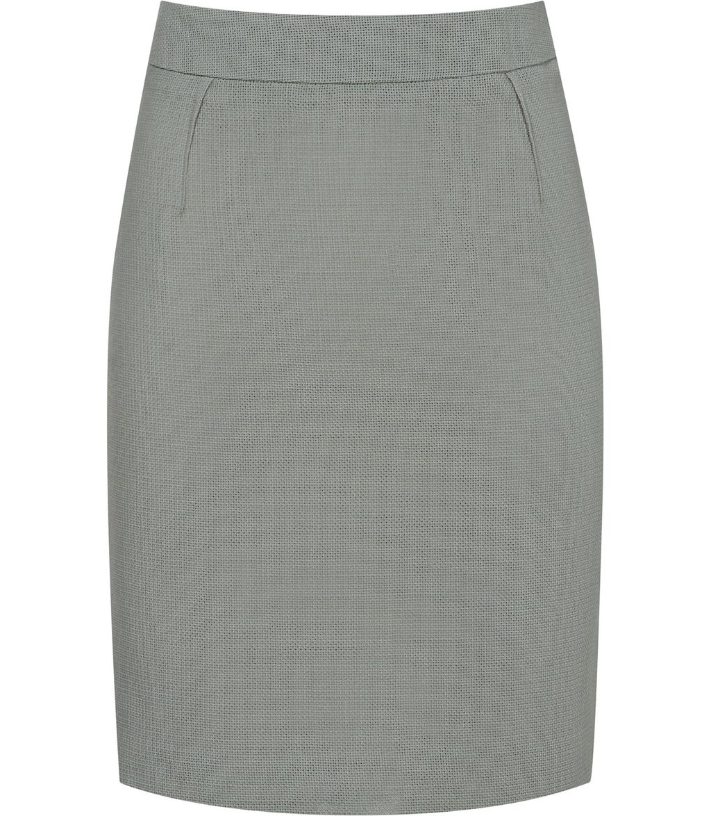 Camila Skirt Womens Textured Pencil Skirt In Green - pattern: plain; style: pencil; fit: tailored/fitted; waist: mid/regular rise; predominant colour: pistachio; occasions: work; length: just above the knee; fibres: wool - 100%; pattern type: fabric; texture group: woven light midweight; season: s/s 2016; wardrobe: highlight