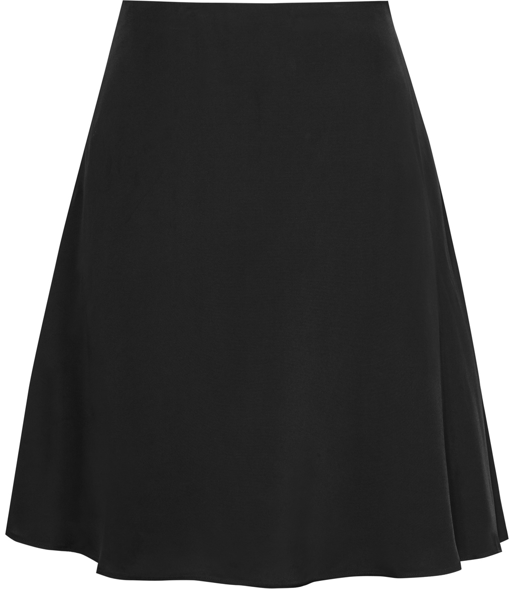 Aston Womens Fluid Skirt In Black - pattern: plain; style: full/prom skirt; fit: loose/voluminous; waist: high rise; predominant colour: black; occasions: work, creative work; length: just above the knee; fibres: viscose/rayon - 100%; hip detail: subtle/flattering hip detail; pattern type: fabric; texture group: woven light midweight; season: s/s 2016; wardrobe: basic