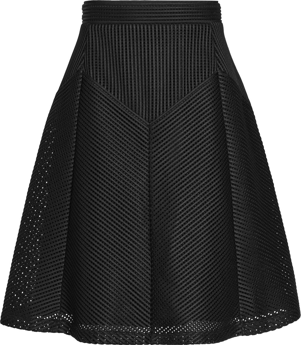 Amythist Womens Textured A Line Skirt In Black - pattern: plain; style: full/prom skirt; fit: loose/voluminous; waist: mid/regular rise; predominant colour: black; occasions: evening; length: just above the knee; fibres: polyester/polyamide - stretch; pattern type: fabric; texture group: woven light midweight; season: s/s 2016; wardrobe: event