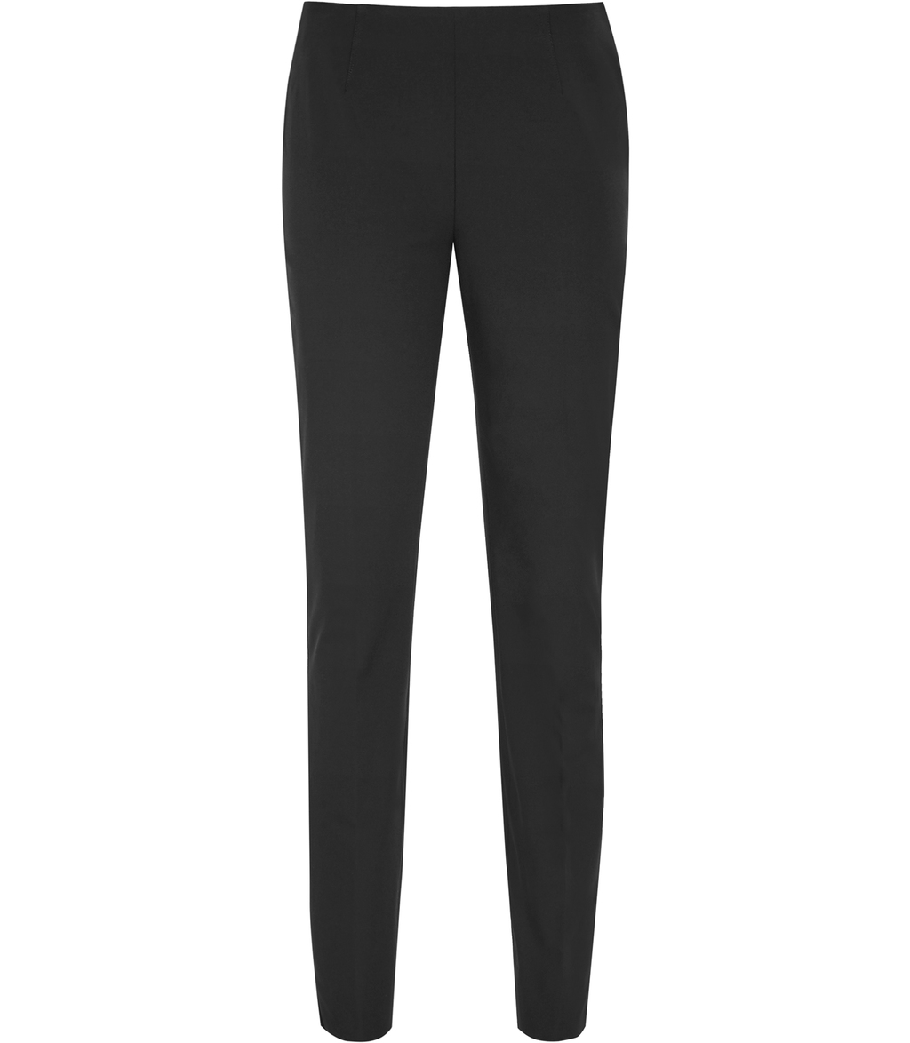 Camron Womens Skinny Cropped Trousers In Grey - pattern: plain; waist: mid/regular rise; predominant colour: charcoal; occasions: work; length: ankle length; fibres: polyester/polyamide - 100%; texture group: crepes; fit: slim leg; pattern type: fabric; style: standard; season: s/s 2016; wardrobe: basic