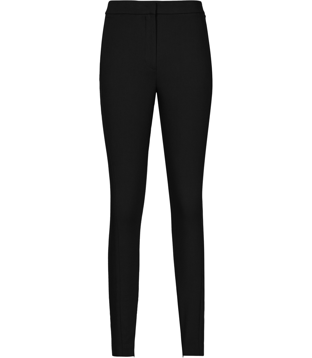 Darlas Womens Skinny Tailored Trousers In Black - length: standard; pattern: plain; waist: mid/regular rise; predominant colour: black; occasions: work; fibres: polyester/polyamide - 100%; waist detail: narrow waistband; texture group: crepes; fit: skinny/tight leg; pattern type: fabric; style: standard; season: s/s 2016