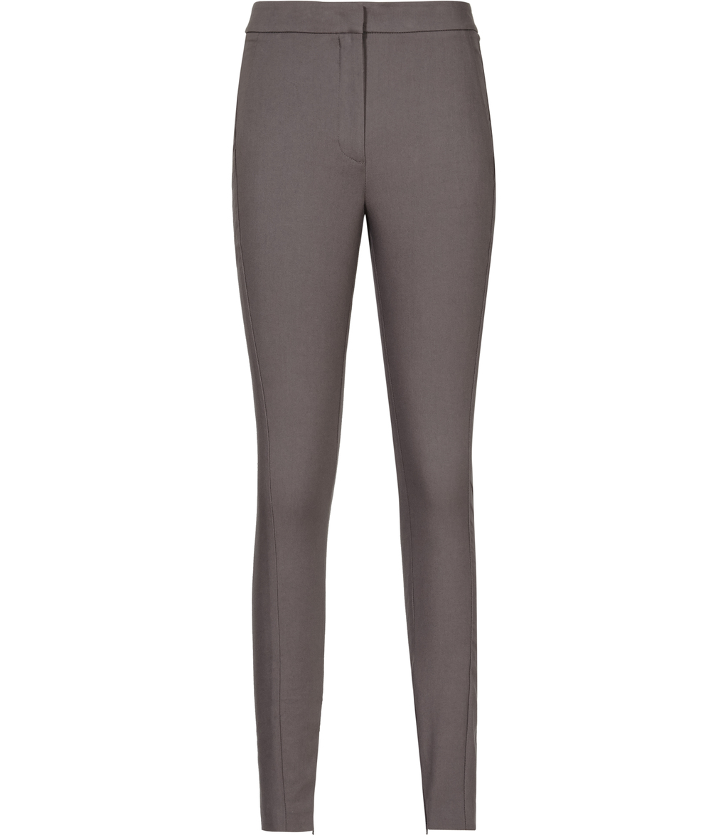 Darlas Womens Skinny Tailored Trousers In Blue - length: standard; pattern: plain; waist: mid/regular rise; predominant colour: charcoal; fibres: cotton - stretch; fit: skinny/tight leg; pattern type: fabric; texture group: woven light midweight; style: standard; occasions: creative work; season: s/s 2016; wardrobe: basic