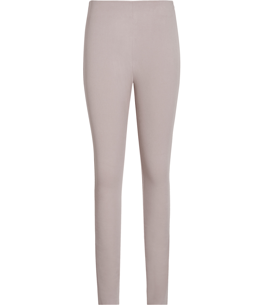 Tora Womens Skinny Stretch Trousers In White - length: standard; pattern: plain; waist: high rise; predominant colour: stone; fibres: polyester/polyamide - 100%; texture group: crepes; fit: skinny/tight leg; pattern type: fabric; style: standard; occasions: creative work; season: s/s 2016; wardrobe: basic