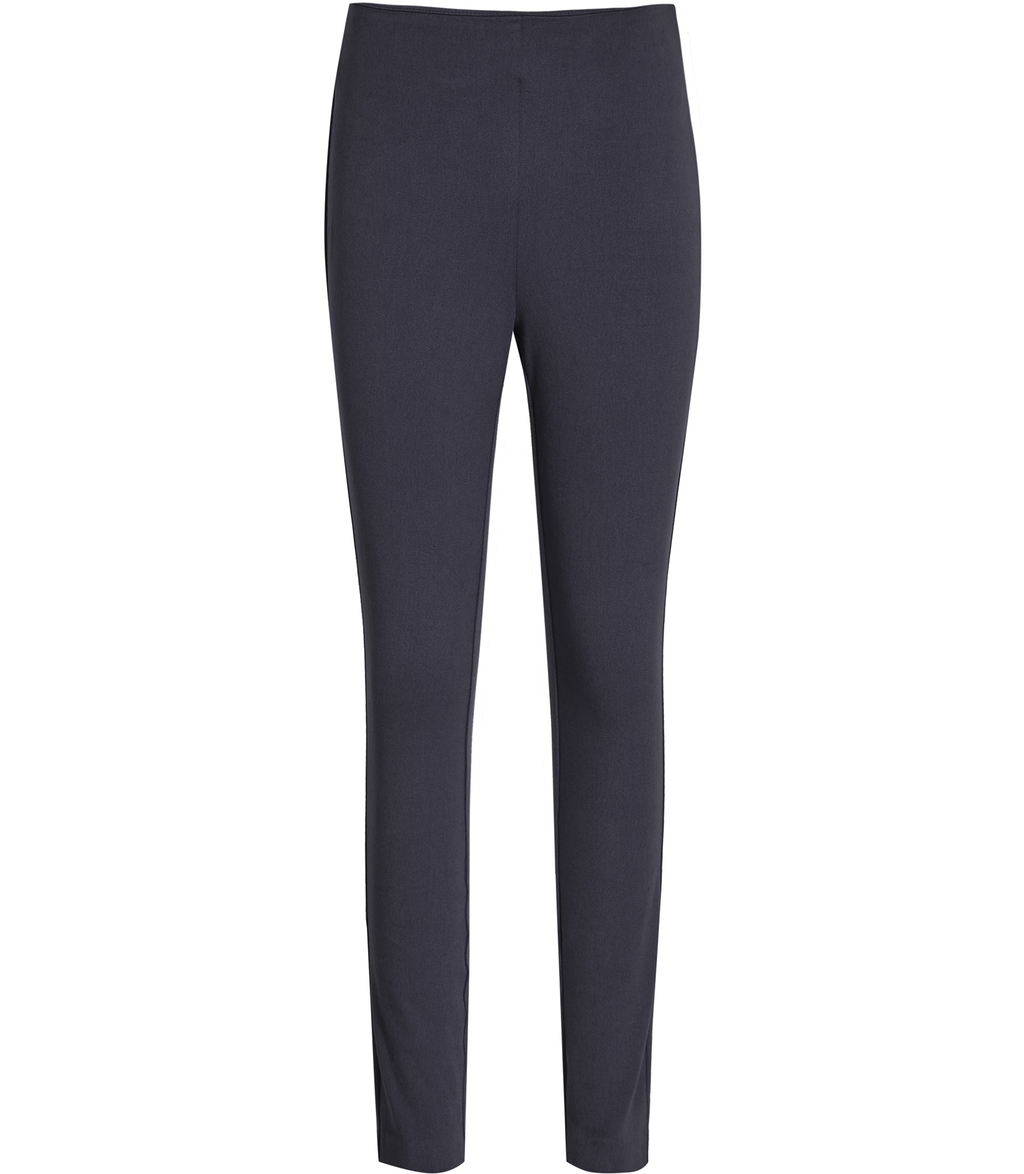 Tora Womens Skinny Stretch Trousers In Blue - length: standard; pattern: plain; waist: mid/regular rise; predominant colour: navy; occasions: casual, creative work; fibres: cotton - stretch; fit: skinny/tight leg; pattern type: fabric; texture group: woven light midweight; style: standard; season: s/s 2016; wardrobe: basic