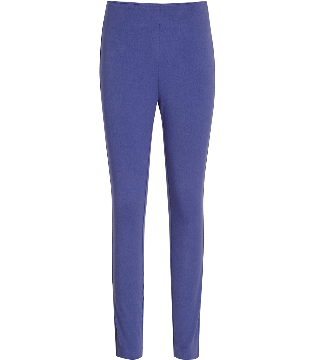 Tora Womens Skinny Stretch Trousers In Blue - pattern: plain; waist: mid/regular rise; predominant colour: royal blue; length: ankle length; fibres: polyester/polyamide - 100%; texture group: crepes; fit: slim leg; pattern type: fabric; style: standard; occasions: creative work; season: s/s 2016; wardrobe: highlight