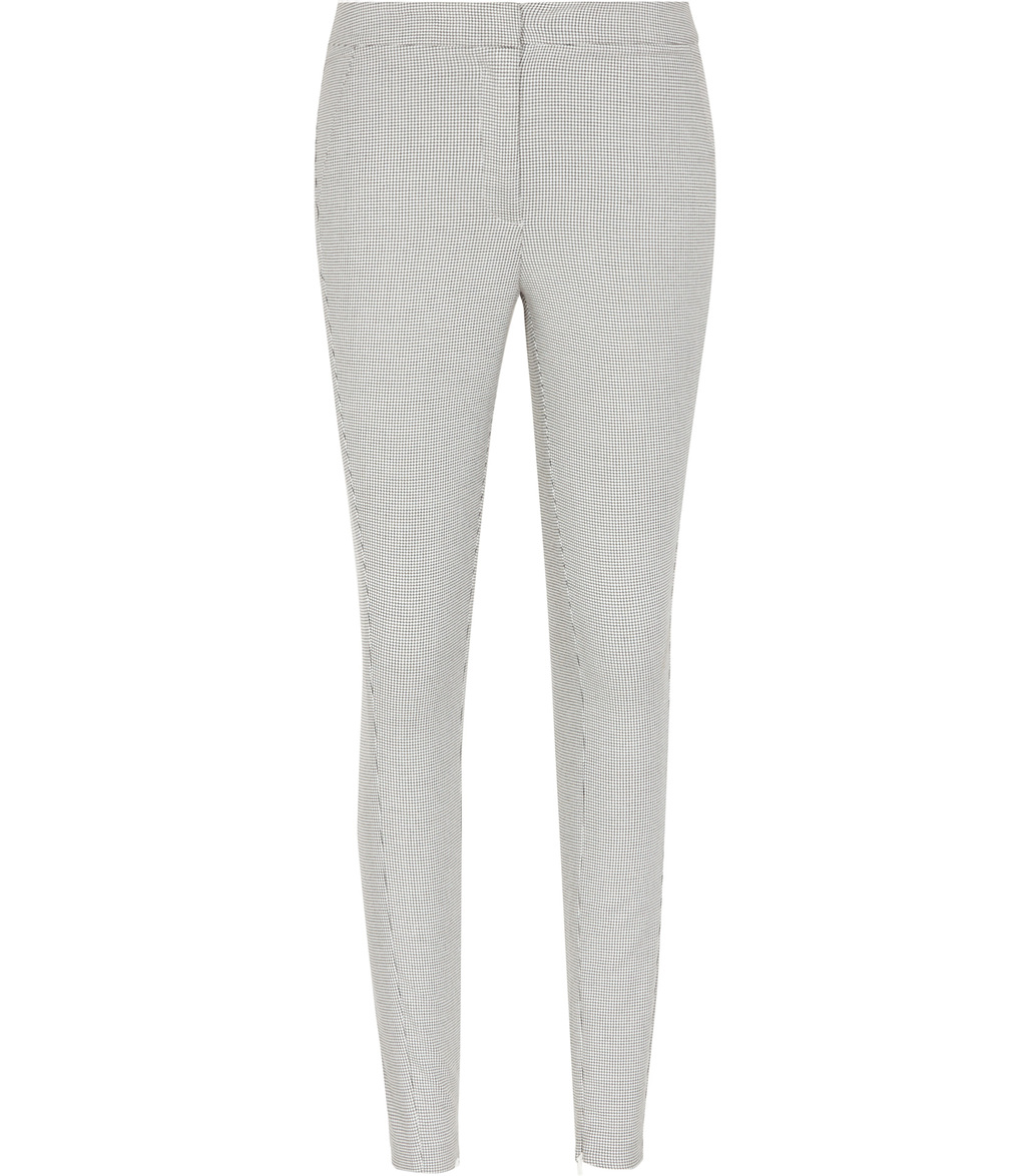 Dagna Womens Skinny Tailored Trousers In White - length: standard; pattern: plain; waist: mid/regular rise; predominant colour: light grey; fibres: polyester/polyamide - 100%; waist detail: narrow waistband; fit: skinny/tight leg; pattern type: fabric; texture group: woven light midweight; style: standard; occasions: creative work; season: s/s 2016; wardrobe: basic