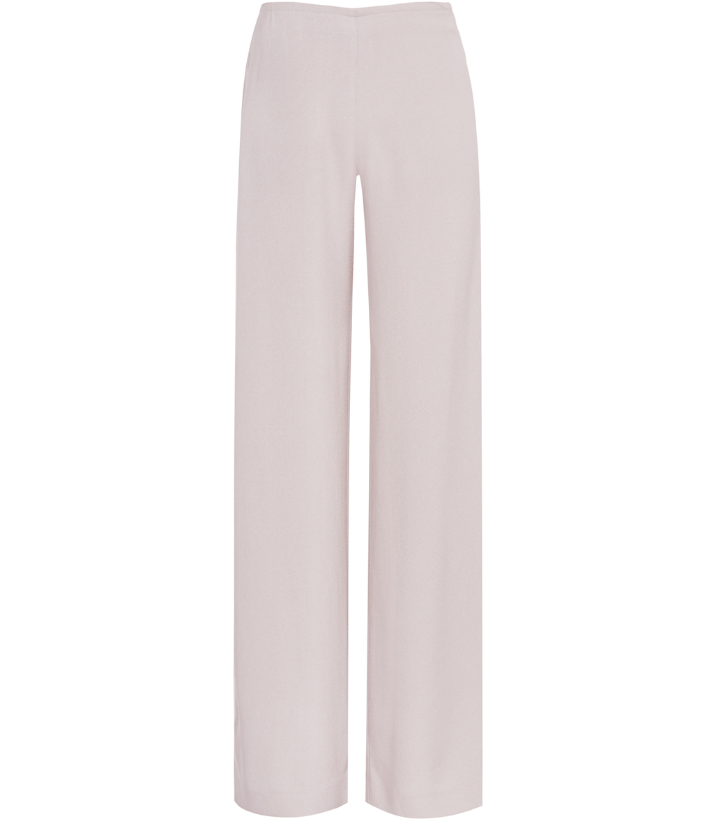 Becci Womens Wide Leg Trousers In Grey - length: standard; pattern: plain; waist: mid/regular rise; predominant colour: blush; fibres: cotton - stretch; occasions: occasion; fit: straight leg; pattern type: fabric; texture group: woven light midweight; style: standard; season: s/s 2016; wardrobe: event