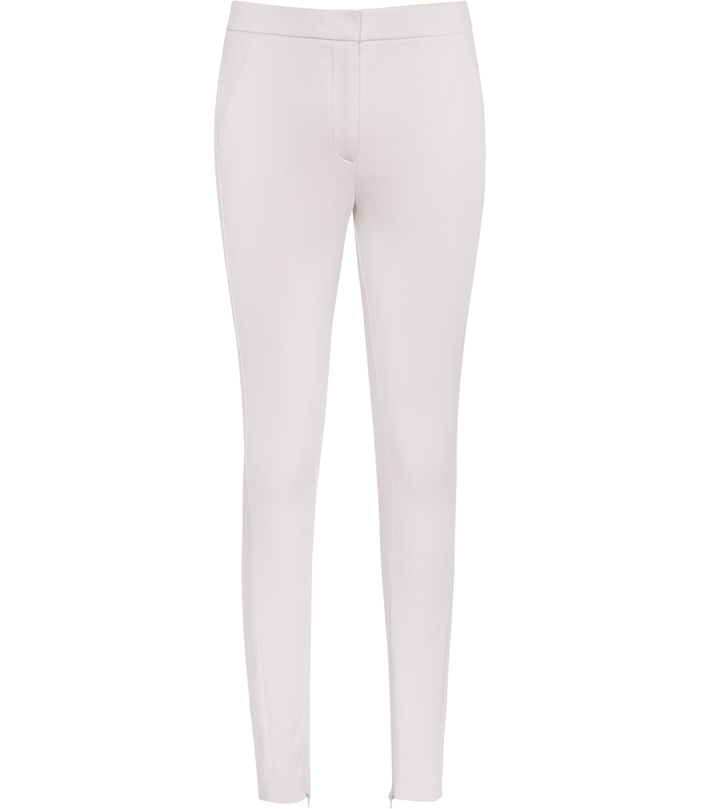 Darla Womens Skinny Tailored Trousers In Grey - length: standard; pattern: plain; style: leggings; hip detail: draws attention to hips; waist: mid/regular rise; predominant colour: ivory/cream; occasions: casual; fibres: cotton - stretch; fit: skinny/tight leg; pattern type: fabric; texture group: woven light midweight; season: s/s 2016; wardrobe: basic