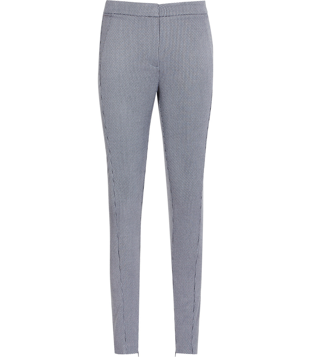 Darla Texture Womens Textured Skinny Trousers In Blue - length: standard; pattern: plain; waist: mid/regular rise; predominant colour: light grey; occasions: casual, work; fibres: cotton - stretch; fit: skinny/tight leg; pattern type: fabric; texture group: jersey - stretchy/drapey; style: standard; season: s/s 2016