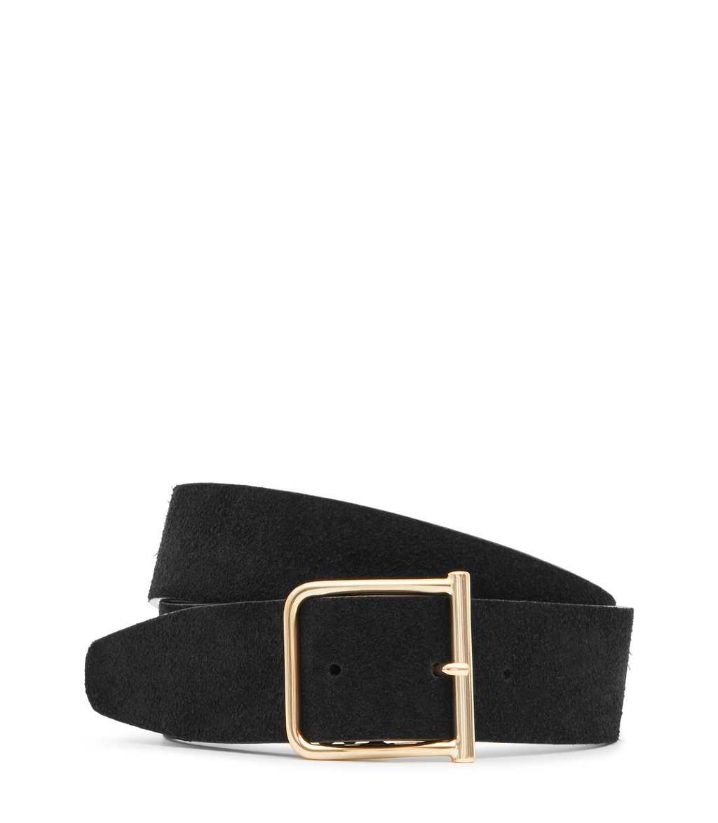 Otis Womens Wide Suede Belt In Black - predominant colour: black; occasions: casual, creative work; type of pattern: standard; style: classic; size: wide; worn on: waist; material: suede; pattern: plain; finish: plain; season: s/s 2016