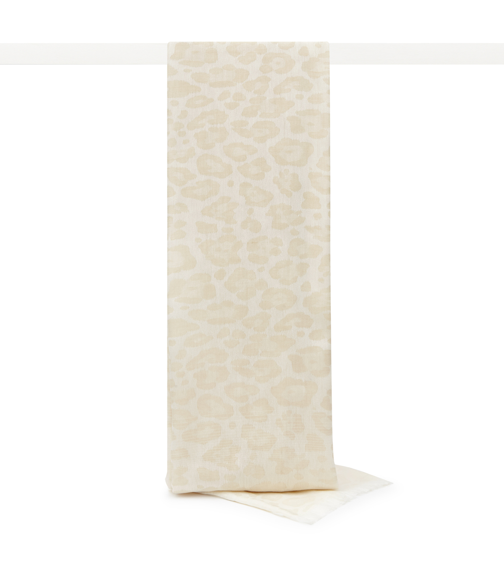 Higgins Womens Woven Scarf In Cream - predominant colour: ivory/cream; occasions: casual, creative work; type of pattern: standard; style: regular; size: standard; material: fabric; pattern: animal print; season: s/s 2016; wardrobe: highlight