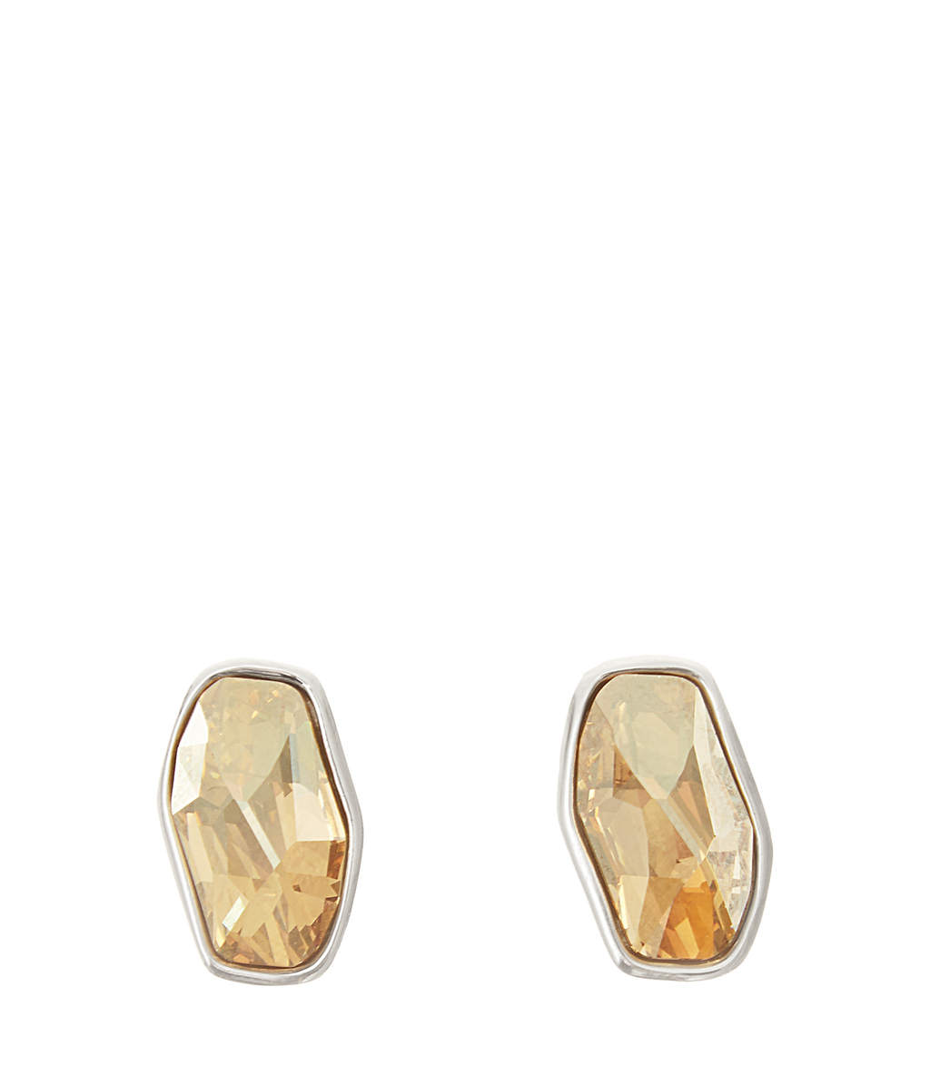 Astrid Womens Stud Earrings With Crystals From Swarovski In Red - predominant colour: gold; occasions: evening, occasion; style: stud; length: short; size: small/fine; material: chain/metal; fastening: pierced; finish: plain; embellishment: jewels/stone; season: s/s 2016; wardrobe: event