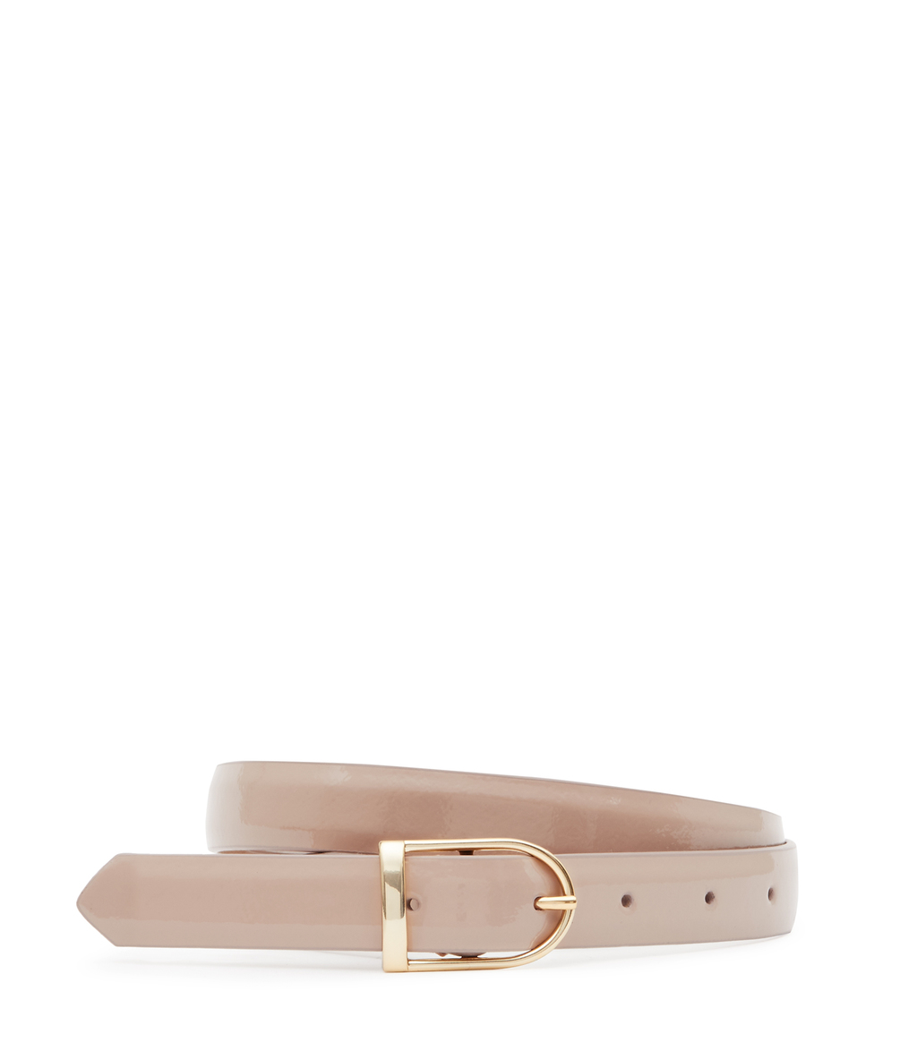 Sullivan Womens Slim Leather Belt In White - predominant colour: blush; occasions: casual; type of pattern: standard; style: classic; size: standard; worn on: hips; material: leather; pattern: plain; finish: plain; season: s/s 2016