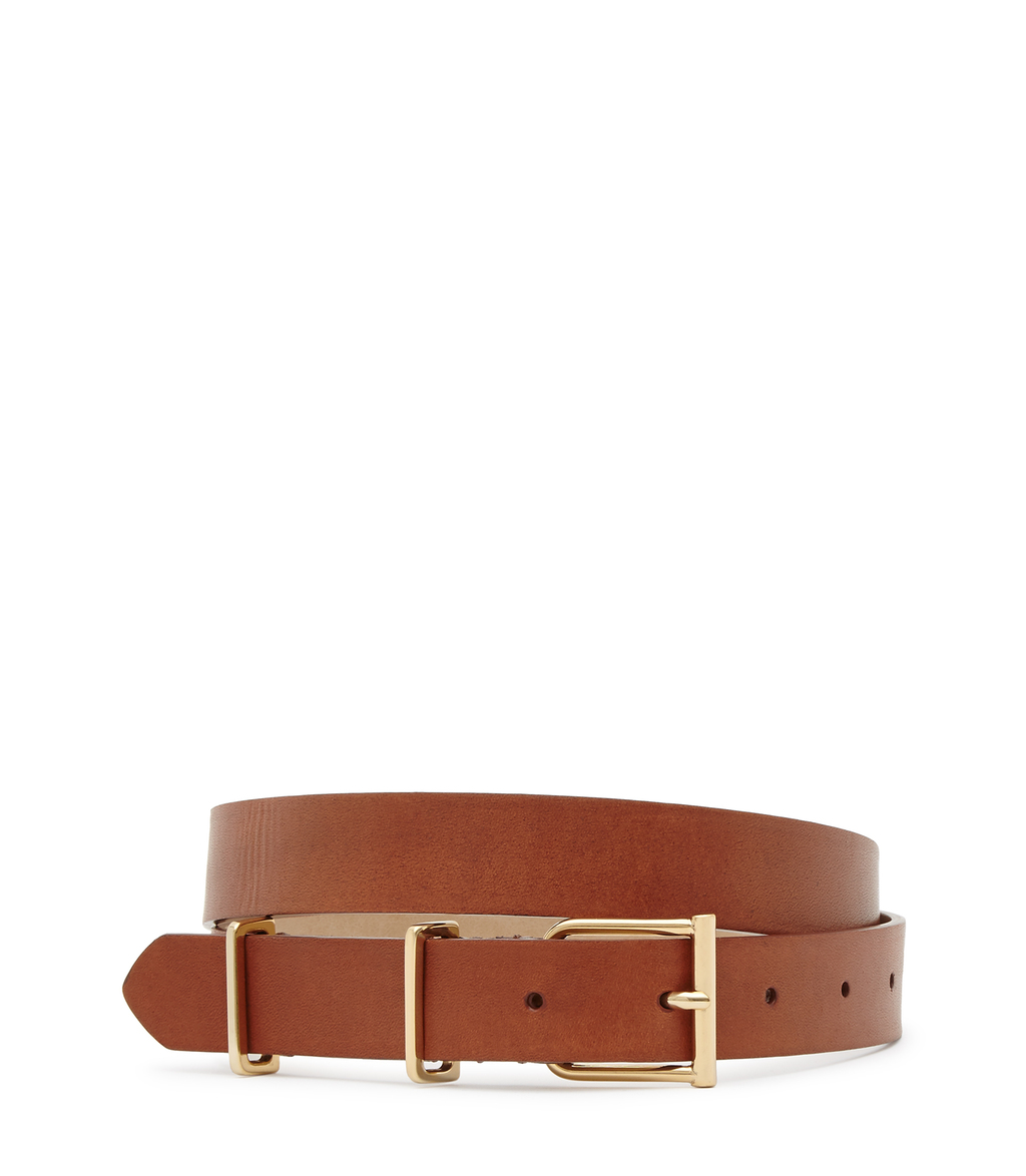 Theon Womens Leather Belt In Brown - predominant colour: tan; occasions: casual, work, creative work; type of pattern: standard; style: classic; size: standard; worn on: hips; material: leather; pattern: plain; finish: plain; season: s/s 2016