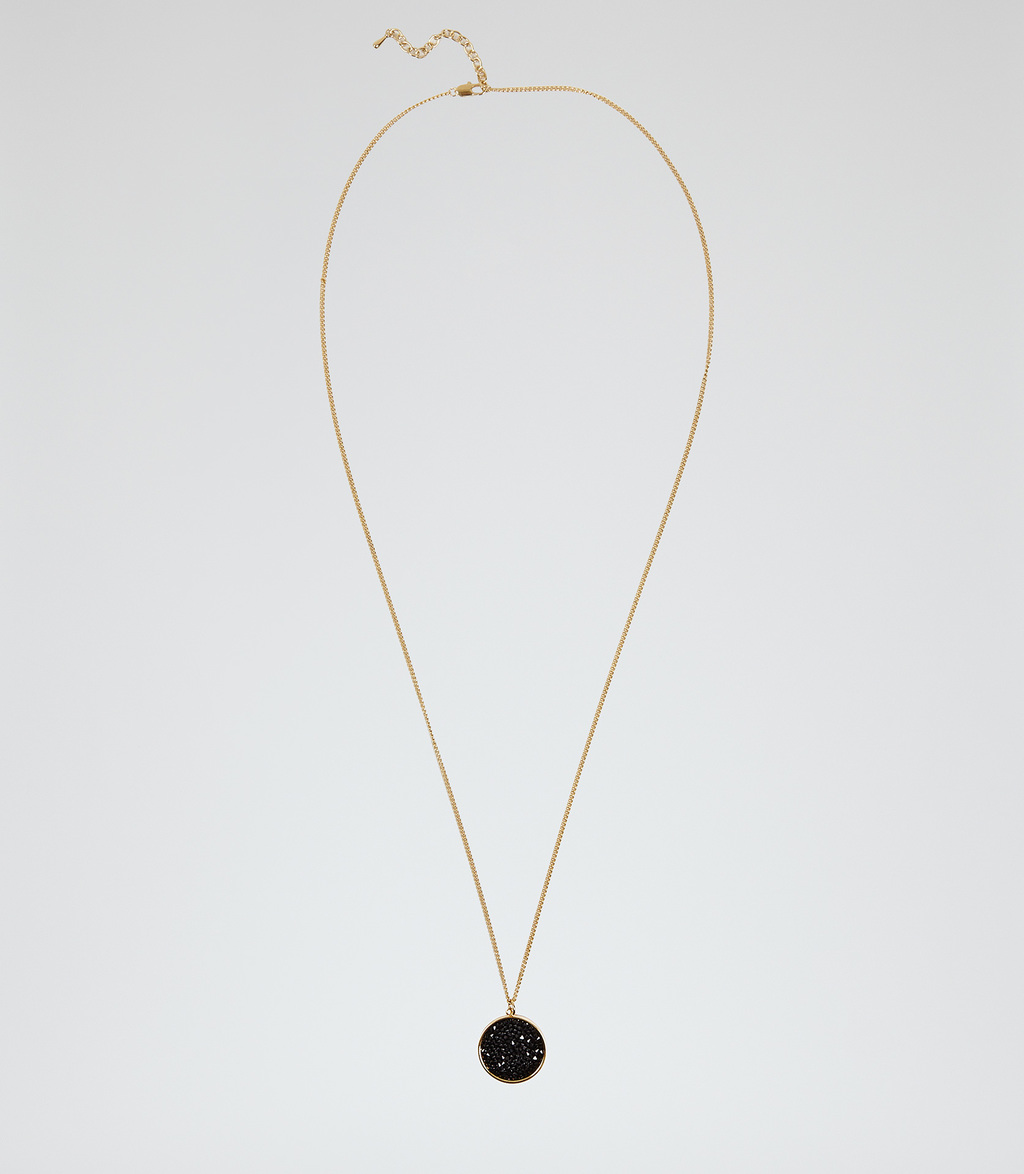 Nikita Womens Pendant With Crystals From Swarovski In White - predominant colour: gold; secondary colour: black; occasions: evening; style: pendant; length: mid; size: standard; material: chain/metal; finish: metallic; embellishment: jewels/stone; season: s/s 2016; wardrobe: event
