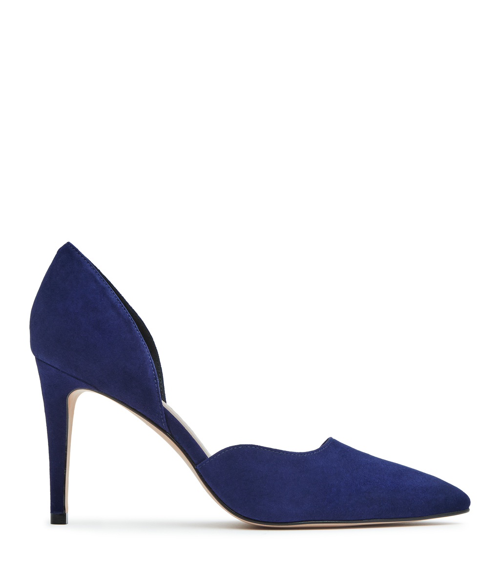 Lawrence Suede Womens Suede Court Shoes In Blue - predominant colour: royal blue; occasions: evening, occasion, creative work; material: suede; heel: stiletto; toe: pointed toe; style: courts; finish: plain; pattern: plain; heel height: very high; season: s/s 2016; wardrobe: highlight