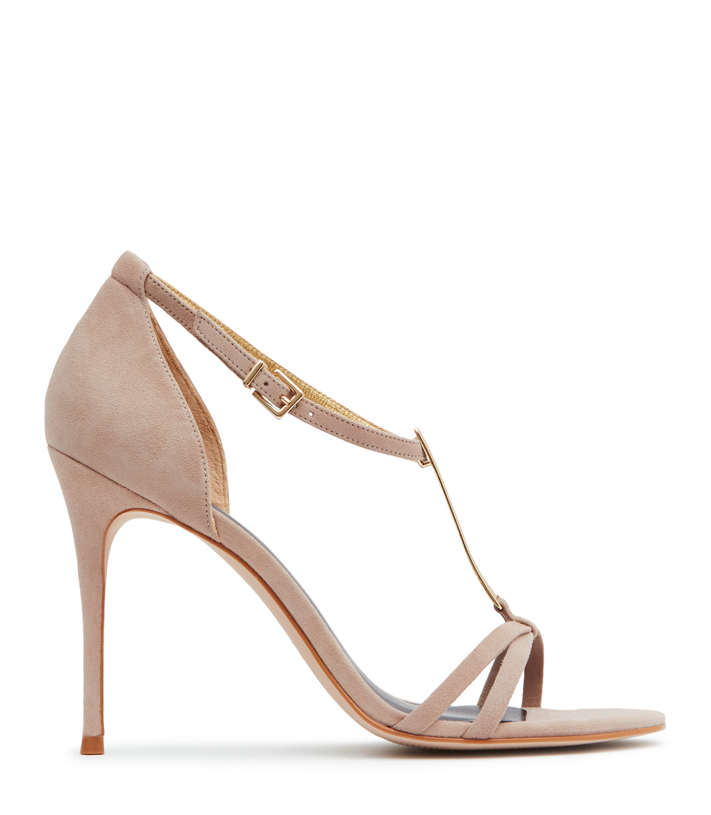 Ariana Womens T Bar Sandals In Brown - predominant colour: taupe; occasions: evening, occasion; material: leather; ankle detail: ankle strap; heel: stiletto; toe: open toe/peeptoe; style: strappy; finish: plain; pattern: plain; heel height: very high; season: s/s 2016; wardrobe: event