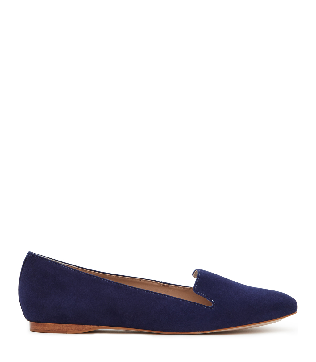 Lillie Suede Womens Suede Flats In Blue - predominant colour: navy; occasions: casual; material: suede; heel height: flat; toe: round toe; style: ballerinas / pumps; finish: plain; pattern: plain; season: s/s 2016