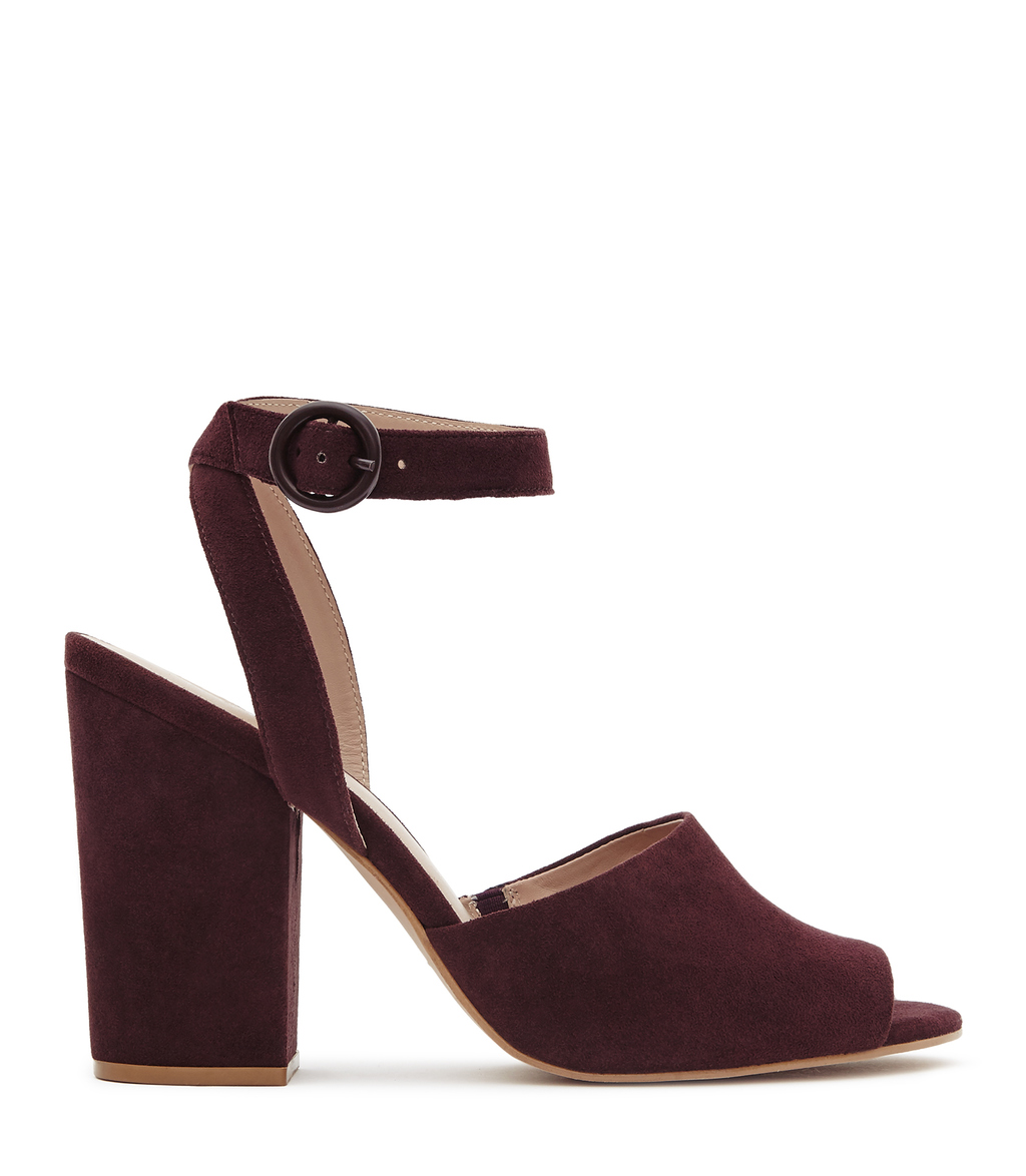 Lana Womens Suede Block Heel Sandals In Blue - predominant colour: burgundy; occasions: evening, occasion; material: suede; heel height: high; ankle detail: ankle strap; heel: block; toe: open toe/peeptoe; style: standard; finish: plain; pattern: plain; season: s/s 2016; wardrobe: event