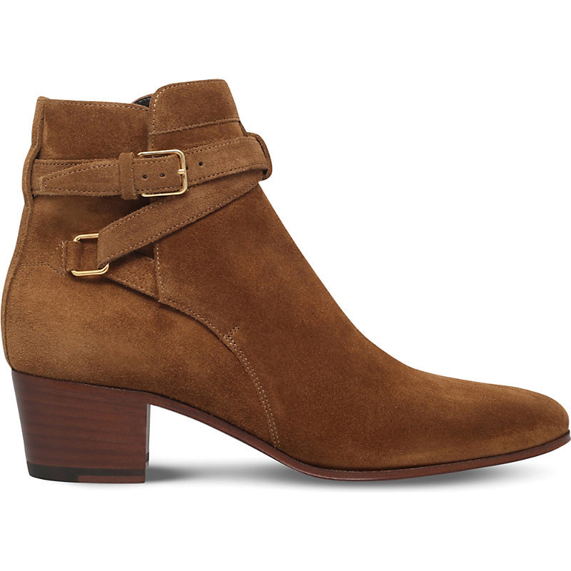 Blake Suede Jodhpur Ankle Boots, Women's, Eur 38 / 5 Uk Women, Tan Comb - predominant colour: tan; occasions: casual, creative work; material: suede; heel height: mid; heel: block; toe: round toe; boot length: ankle boot; style: standard; finish: plain; pattern: plain; season: s/s 2016; wardrobe: highlight