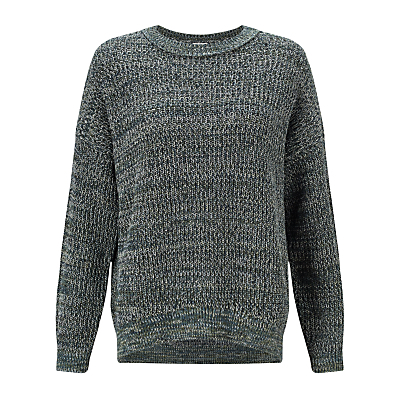 Twisted Yarn Jumper, Green - neckline: round neck; style: standard; predominant colour: dark green; occasions: casual, creative work; length: standard; fibres: cotton - 100%; fit: standard fit; sleeve length: long sleeve; sleeve style: standard; texture group: knits/crochet; pattern type: knitted - other; pattern size: standard; pattern: patterned/print; season: s/s 2016; wardrobe: highlight; trends: chunky knits