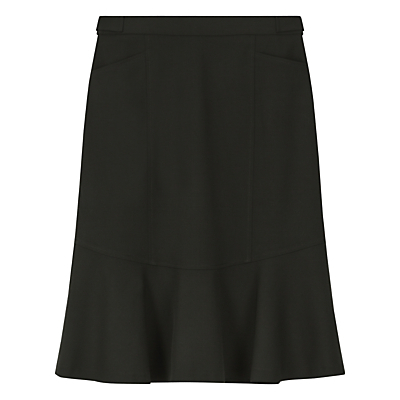 Nicole Skirt, Black - pattern: plain; fit: tailored/fitted; waist: mid/regular rise; predominant colour: black; occasions: work; length: just above the knee; style: fit & flare; fibres: wool - stretch; pattern type: fabric; texture group: woven light midweight; season: s/s 2016; wardrobe: basic