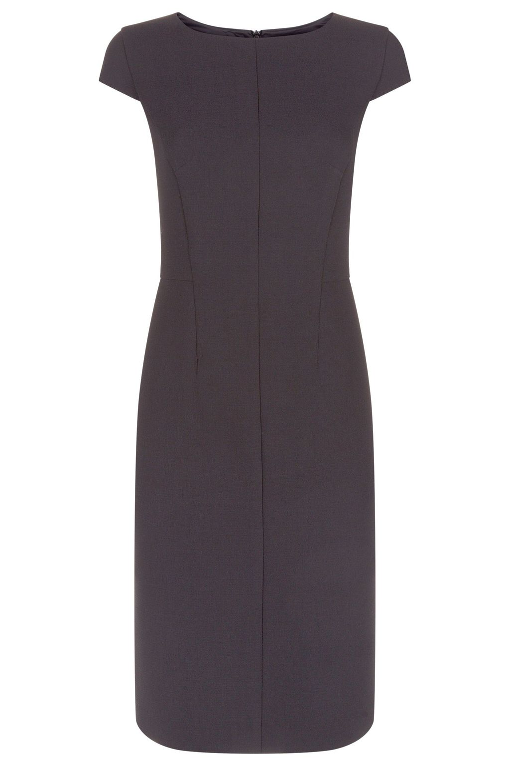 Orbit Dress, Granite - style: shift; sleeve style: capped; fit: tailored/fitted; pattern: plain; predominant colour: charcoal; length: on the knee; fibres: polyester/polyamide - 100%; occasions: occasion; neckline: crew; sleeve length: short sleeve; texture group: crepes; pattern type: fabric; season: s/s 2016