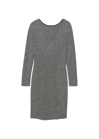 Scoop Back Bodycon Dress - style: shift; neckline: round neck; fit: tight; pattern: plain; predominant colour: mid grey; occasions: evening; length: just above the knee; fibres: polyester/polyamide - stretch; sleeve length: long sleeve; sleeve style: standard; texture group: jersey - clingy; pattern type: fabric; season: s/s 2016