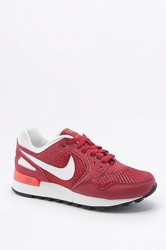 Air Pegasus 89 Red And White Trainers, Red - secondary colour: white; predominant colour: true red; occasions: casual; material: suede; heel height: flat; toe: round toe; style: trainers; finish: plain; pattern: plain; season: s/s 2016; wardrobe: highlight