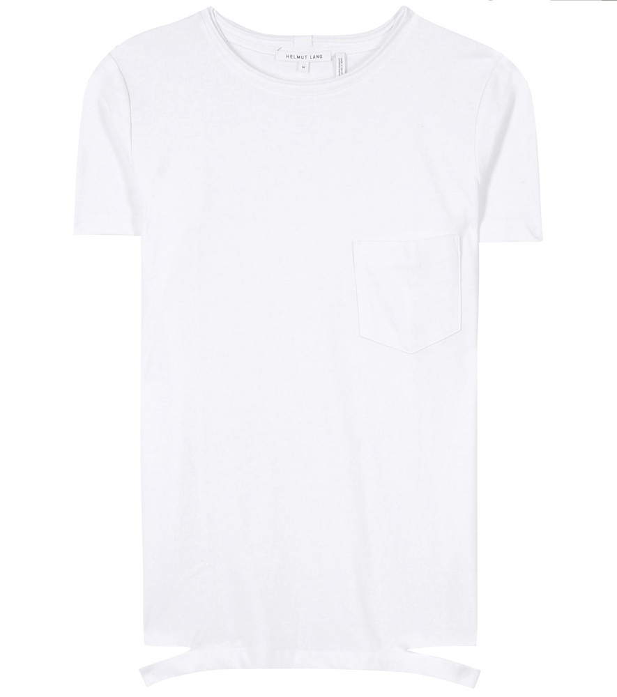 Slash Hem Cotton T Shirt - pattern: plain; style: t-shirt; predominant colour: white; occasions: casual, creative work; length: standard; fibres: cotton - 100%; fit: straight cut; neckline: crew; sleeve length: short sleeve; sleeve style: standard; pattern type: fabric; texture group: jersey - stretchy/drapey; season: s/s 2016; wardrobe: basic