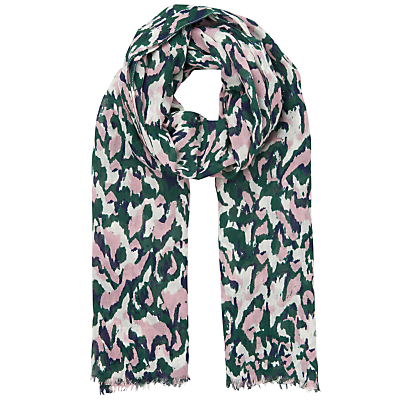 Marble Print Scarf, Multicolour - predominant colour: pink; occasions: casual; type of pattern: heavy; style: regular; size: standard; material: fabric; pattern: animal print; multicoloured: multicoloured; season: s/s 2016; wardrobe: highlight