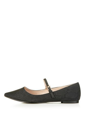 Absent Strap Shoe - predominant colour: black; occasions: casual, work, creative work; heel height: flat; toe: pointed toe; style: ballerinas / pumps; finish: plain; pattern: plain; material: faux suede; trends: glossy girl; season: s/s 2016; wardrobe: basic
