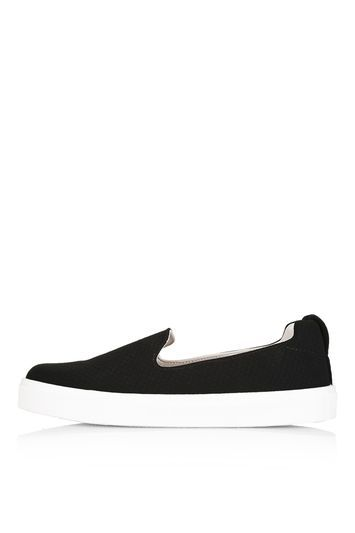 Temp Black Anaconda Trainers - secondary colour: white; predominant colour: black; occasions: casual, creative work; material: faux leather; heel height: flat; toe: round toe; finish: plain; pattern: plain; style: skate shoes; trends: tomboy girl; season: s/s 2016; wardrobe: basic