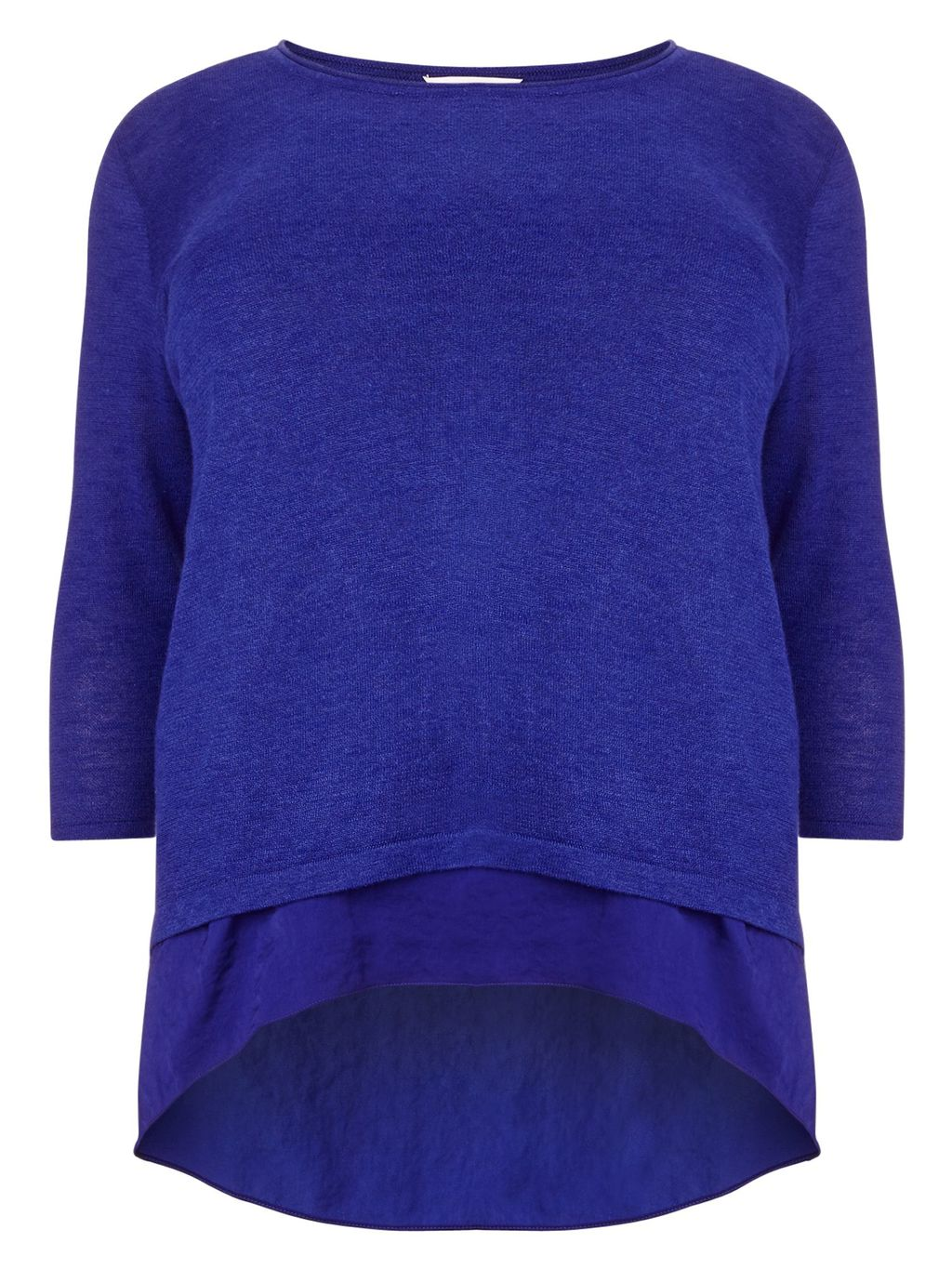 Caroline Jumper, Cobalt - pattern: plain; style: standard; predominant colour: royal blue; occasions: casual, creative work; length: standard; fibres: cotton - mix; fit: standard fit; neckline: crew; sleeve length: 3/4 length; sleeve style: standard; texture group: knits/crochet; pattern type: knitted - fine stitch; season: s/s 2016; wardrobe: highlight