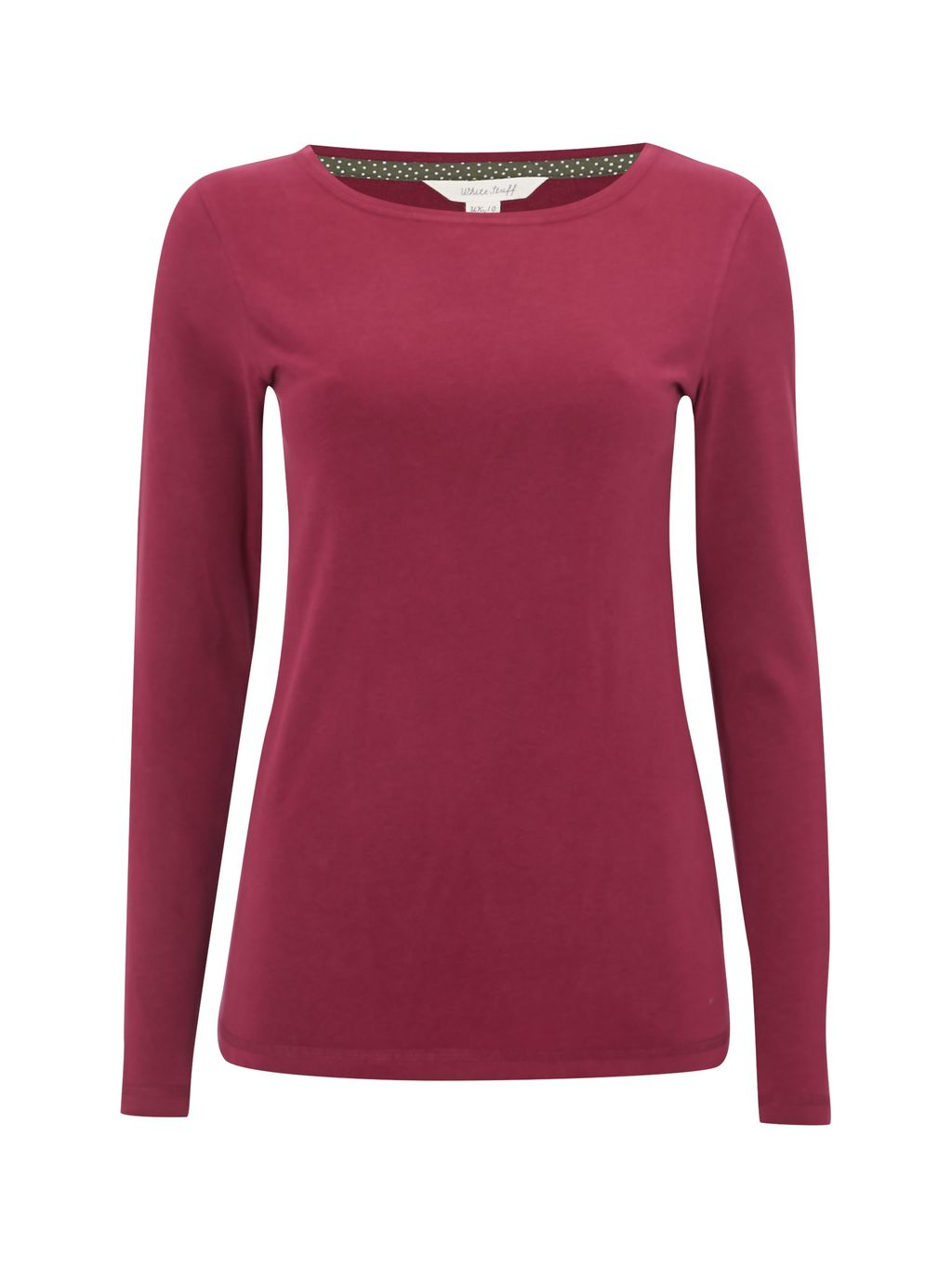 Florence Ls Jersey Tee, Purple - pattern: plain; style: t-shirt; predominant colour: magenta; occasions: casual; length: standard; fibres: cotton - stretch; fit: body skimming; neckline: crew; sleeve length: long sleeve; sleeve style: standard; texture group: jersey - clingy; pattern type: fabric; season: s/s 2016; wardrobe: highlight